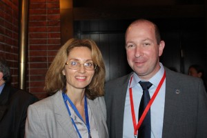 Esther Amar Kagan (CEO, Israel Science Info) and Prof. Alon Wolf (Technion)