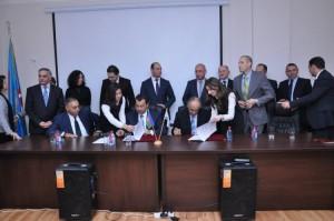 Signature du mémorandum entre l'Université de Haïfa et l'Université des Langues d'Azerbaïdjan, Chaire pour les Études juives et la langue hébraïque, par le Centre d'Etudes juives et la langue hébraïque
