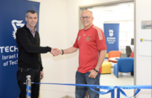 Prof. Irad Yavneh, Technion (left) and Yoram Yaacovi, Microsoft