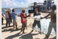 L'équipe humanitaire d'IsraAID apporte de l'eau et de la nourriture aux habitants du Vanuatu