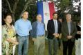 L. to r.: the President of the Shalom Club Paraguay; Ambassador Mattanya Cohen; Minister Shamir; Israel's Honorary Consul to Paraguay Alejandro Rubin; and Ambassador Modi Ephraim - Copyright: MASHAV