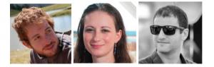 From L. to R. Shay Keren-Zur, Netta Hendler, Phd. Students and Nadav Segal, student master