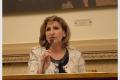 """Dominique Dahan, directrice de l'Alliance Israélite des Pavillons-sous-Bois, à l'Assemblée nationale en 2014, colloque """"femmes et sciences"""" organisé par Israël Science Info (C. photo M. Ouaki)"""