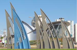 Le rond-point des voiles à Ashdod