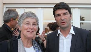 Bérengère Quincy et Patrick Maisonnave, Ambassadeur de France en Israël, Tel Aviv 18 mai 2015