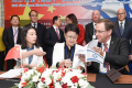 From left: Ms. Xiaoling Ouyang, Administrative Director, the School of Advanced Agriculture at Peking University; Dr. Guiying Wang, Vice Mayor of Weifang; and Prof. Danny Chamovitz, Dean of TAU's George S. Wise Faculty of Life Sciences