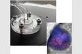 Liver-on-chip device and microscopic image of bionic liver (Photo credit: Yaakov Nahmias / Hebrew U.)