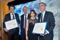 Remise de Certificats d'Honneur a été organisée à Messieurs Yannick Bolloré (PDG du groupe HAVAS MONDE) et le Dr. Emmanuel Canet (Président Recherche & Innovation du Groupe Servier) pour leurs partenariats établis avec le Technion sous l'impulsion de Muriel Touaty