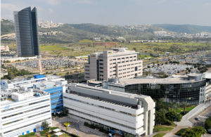 Zvi Roger - Haifa Municipality - The Spokesperson, Publicity and Advertising Division, Matam located at the southern entrance to Haifa, Israel, is the largest and oldest dedicated Hi Tech park in Israel. Next to it, IEC Tower. The buildings in Matam at the front of the picture are the ones of Intel and Elbit Systems.