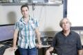 Amir Goldenthal with Professor Kanter (Photo: Dana Kopel)