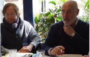 à g. Valéry Laramée de Tannenberg, à d. Yves Leers (photo Richard Varrault pour l'AJE)
