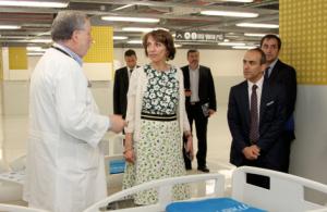 La Ministre française des Affaires sociales et de la santé, Mme Marisol Touraine à l'hôpital Ichilov, en Israël