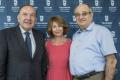 De g. à d., Pierre Gattaz, Président du MEDEF, Muriel Touaty, DG du Technion France, Prof Peretz Lavie, Président du Technion