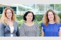 Professeurs Michal Sharon, Maya Schuldiner et Nirit Dudovich (de g. à d.) – Crédits : Weizmann Institute