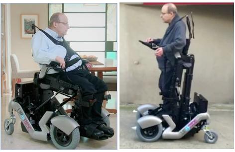 technion isra l upnride le fauteuil roulant en position debout ou assise isra l science info. Black Bedroom Furniture Sets. Home Design Ideas