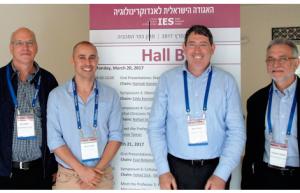 L. to r. : Dov Gefel, Yaniv Ovadia, Aron Troen, and Jonathan Arbelle