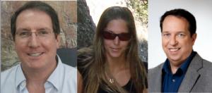 De g. à d. : Pr Colin Price, Naama Reicher, Pr Yoav Yair