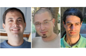 De g. à d. : Dr. Iair Arcavi, Prof. Dovi Poznanski, Prof.Ehud Nakar