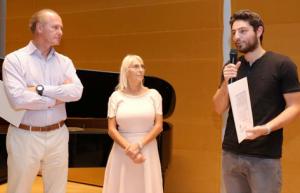 De g. à d. François Heilbronn, Agnès Goldman, Elliot Lellouche