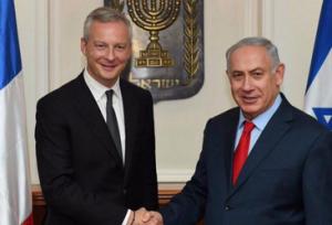 Bruno Le Maire et Benyamin Netanyahou