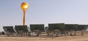 Module '' tulipe'' de démonstration de AORA au Kibboutz Samar dans la Arava produisant 100KW d'énergie électrique et 170KW d'énergie thermique (tour 30m/ 2000m2)