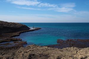 Une crique près de la plage Dor
