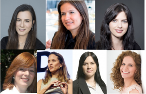 High from l. to r. Daphna Nissenbaum, Inna Braverman, Tal Rubinstein, Sari Roth, Dr. Sharon Haramati, Ruth Polachek, Lihi Segal