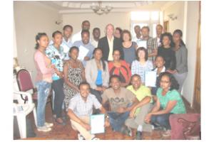 L'équipe de Hadassah à l'orphelinat de Addis-Abeba