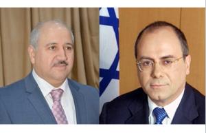 Le Ministre Hazim El Naser et le Ministre Silvan Shalom