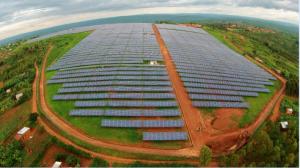 Le champ solaire en forme de continent africain
