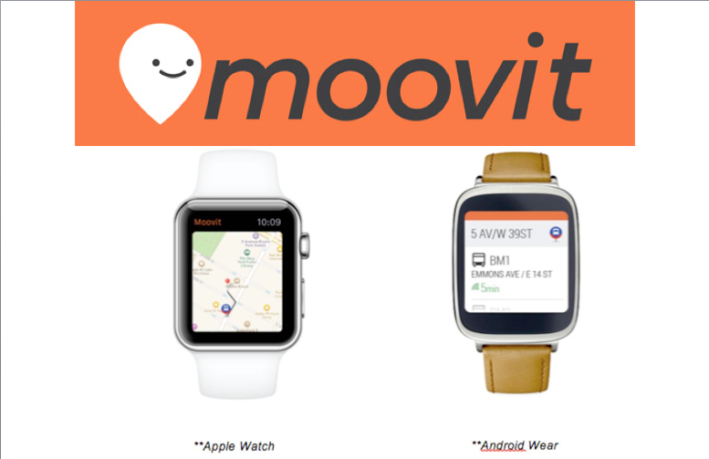 Smart public transit app Moovit (Israel) reveals Apple Watch and
