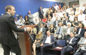 Emmanuel Macron présentant la french tech en Israël (photo : Usine digitale)