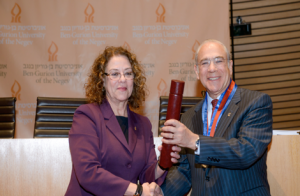 BGU of the Negev President Prof. Rivka Carmi and OECD Secretary-General Jose Ángel Gurría