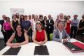 Au centre en rouge le Dr Revital Rattenbach, CEO de 4PPharma