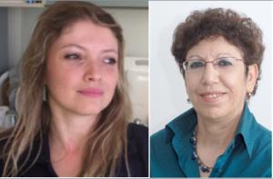 A g. Dr Fernanda Cerqueira, à d. Prof Varda Shoshan Barmatz