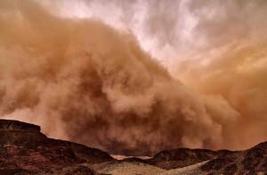Tempête de sable au Timna Park (Eilat, Israel)