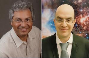 A g. Dr David Elbaz, Commissariat à l'Energie Atomique, à d. Prof Rennan Barkana, Université de Tel Aviv