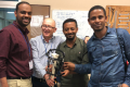 Pr Mark Eidelman, 2nd from left, director of the Pediatric Orthopedics Unit at Rambam's Ruth Rappaport Children's Hospital with Africian colleagues at The Black Lion Hospital in Addis Ababa. Credit: Rambam Medical Center