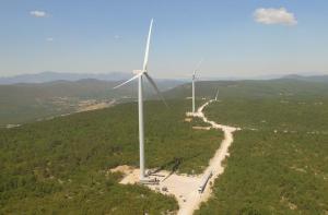 Ferme éolienne réalisée par Enlight Energy (Lukovac, 49MW, Croatie)