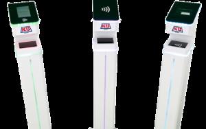 Les bornes en libre-service dans lesquelles Virusight Diagnostic et ICTS Europe vont intégrer le dispositif de test de dépistage salivaire du COVID-19 pour les aéroports (photo : ICTS Europe)