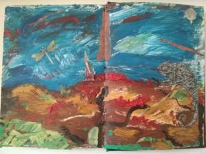 """""""Le déluge"""", œuvre originale de Muriel Barak"""