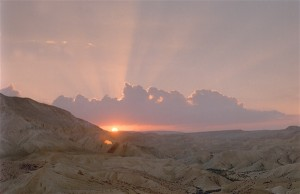 Sunset over the Zin Valley in the Negev Desert Photo Credits: Dani Machlis/BGU