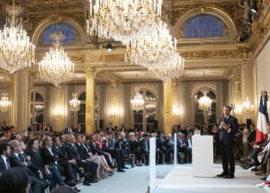 Discours d'Emmanuel Macron aux acteurs de la French Tech le 14/09/2020 - © Élysée