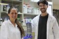 Assistant Professor Naama Geva-Zatorsky (left) and doctoral student Nadav Ben-Assa