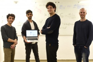 The Research Group L-R: Rotem Elimelech, Yoav Harris, Prof. Ido Kaminer and Shahar