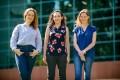 (l-r) Dr. Oksana Degtjarik, Dr. Moran Shalev-Benami and Hadar Israeli