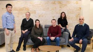 (l-r) Dr. Weifeng Lin, Prof. Jacob Klein, Dr. Ronit Goldberg, Dr. Nir Kampf, Dr. Monika Kluzek and Dr. Eyal Shimoni