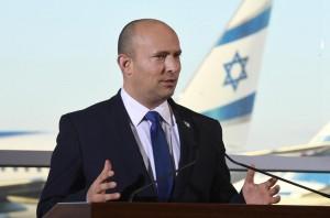 Prime Minister Naftali Bennett at Ben-Gurion International Airport photo credit: Haim Zach (GPO)